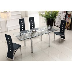 Black Extendable Dining Table at home usa lazzaro extendable dining table & reviews | wayfair