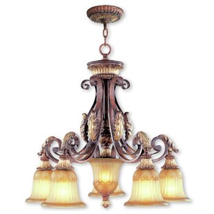 Astoria Grand Scottdale 6-Light Shaded Chandelier