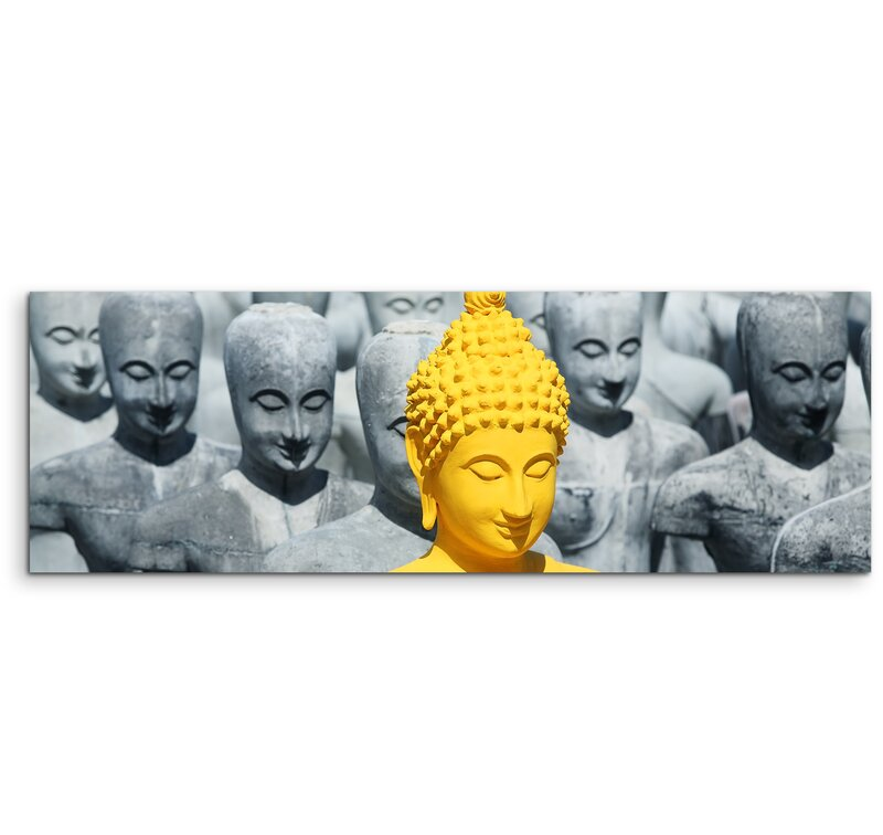 East Urban Home Buddha Statue Framed Photographic Print on Canvas ...