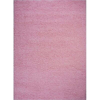 Hashtag Home Huw Shaggy Baby Pink Rug