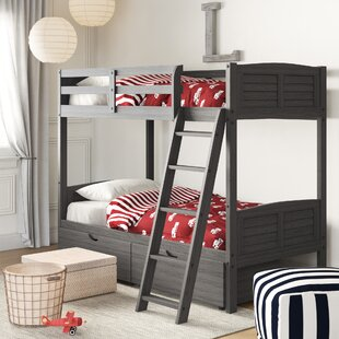 Bellin Twin over Twin Bunk Bed with Dual Storage Drawers