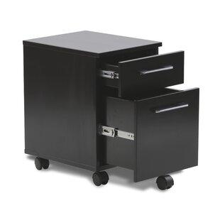 Haaken Furniture Tribeca 2-Drawer Mobile Pedestal Filing Cabinet