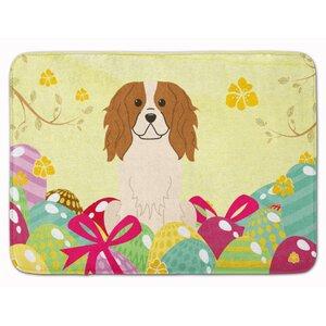 Easter Eggs Cavalier Spaniel Memory Foam Bath Rug