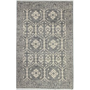 Ferran Hand-Knotted Grey Area Rug