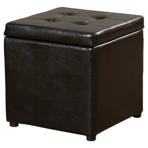 Donaldson Upholstered Storage Cube Ottoman by Charlton Home