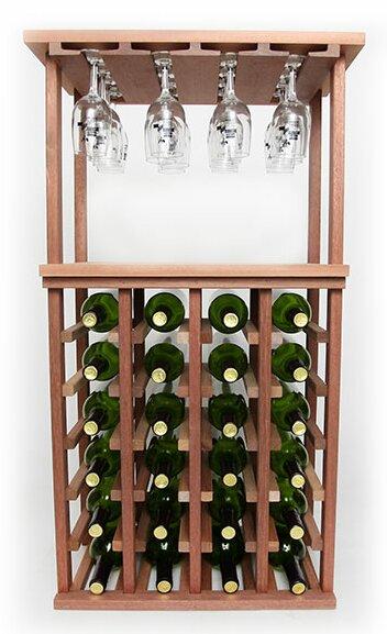 Wineracks Com 24 Bottle Floor Wine Bottle And Glass Rack Wayfair