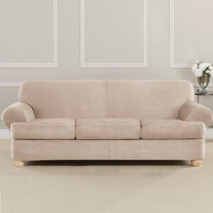 Price Check Ultimate Heavyweight Stretch Suede T-Cushion Sofa Slipcover by Sure Fit Reviews (2019) & Buyer's Guide