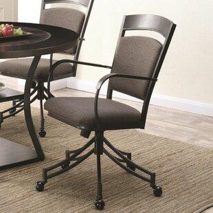 Furrier Kosher Metal Upholstered Dining Chair (Set of 2) by Red Barrel Studio