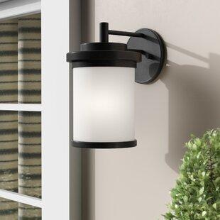 Three Posts Dashiell Glass Shade Outdoor Wall Lantern