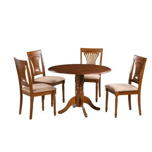 Forthill 5 Piece Drop Leaf Solid Wood Dining Set by Alcott Hill Amazing