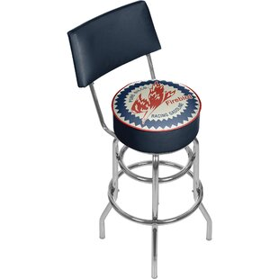 Pure Oil Firebird 31 Swivel Bar Stool by Trademark Global Salet