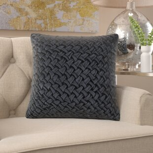 Acuff Modern Smocking Throw Pillow