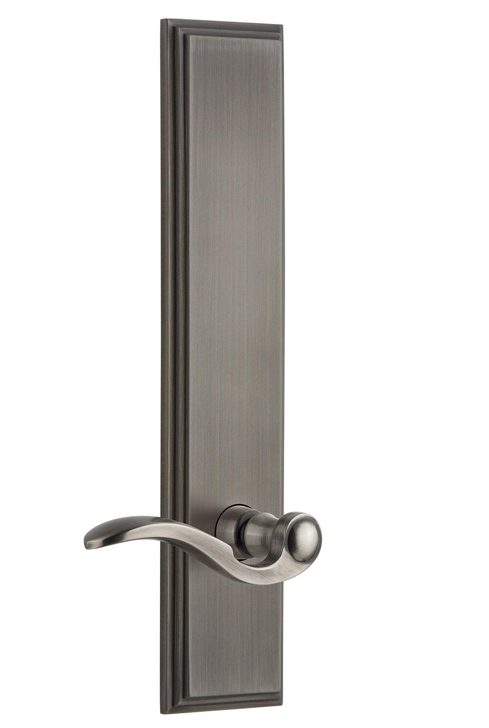 Grandeur Bellagio Double Dummy Door Lever With Carre Plate Wayfair