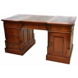Adlington Executive Solid Wood Desk By Rosalind Wheeler