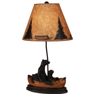 Robert Kodiak/Honey Bear Family Canoe 29 Table Lamp