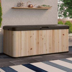 120 Gallon Cedar And Resin Deck Box
