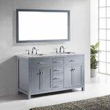 Kenilworth 60 Double Bathroom Vanity Set with Mirror by Highland Dunes