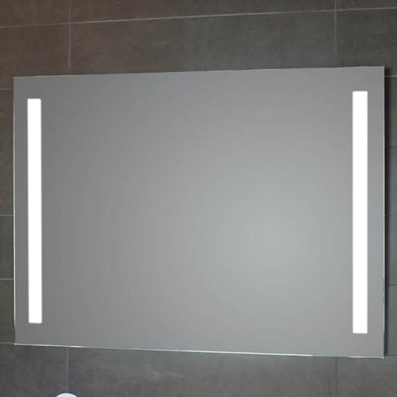 Image of: Ws Bath Collections Simply Led Lighted Bathroom Wall Mirror Wayfair