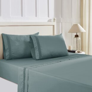 Rodriquez Rich Lace Hem Solid Color Sheet Set