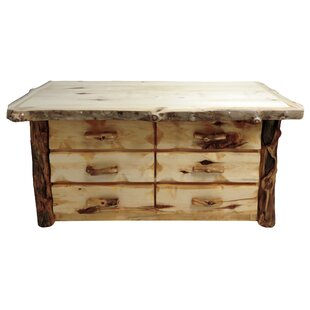 Aspen Grizzly 6 Drawer Double Dresser