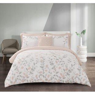Oaklyn Blush Microfiber Comforter Set