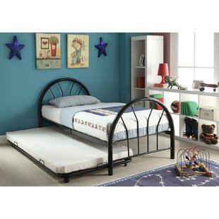Find a Hackbarth Metal Twin Panel Bed by Harriet Bee Reviews (2019) & Buyer's Guide