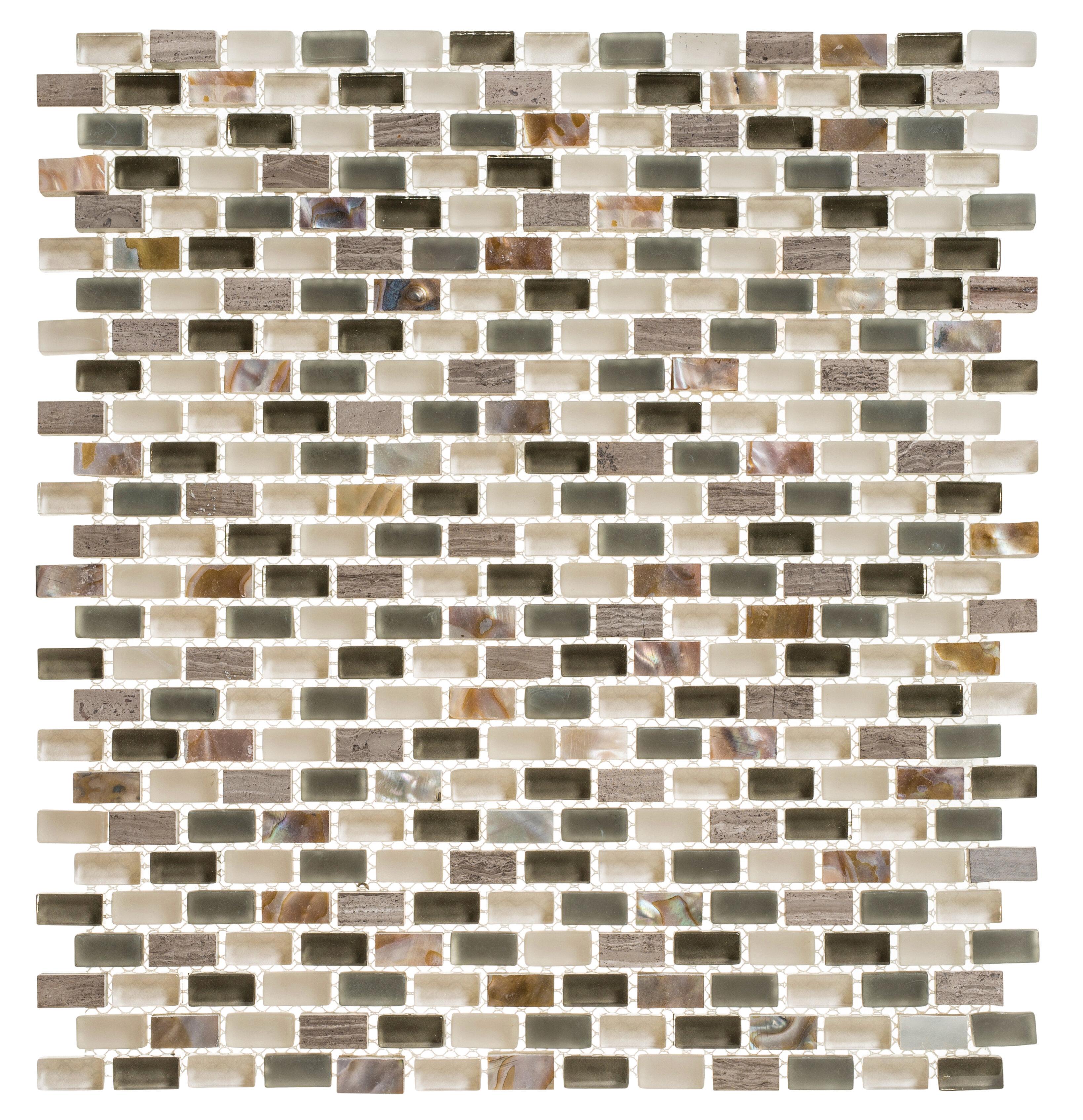 Andova Tino 0 38 X 0 75 Natural Stone Mosaic Wall Floor Tile Wayfair