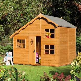Swiss Cottage 7.71' X 6.75' Playhouse By Rowlinson