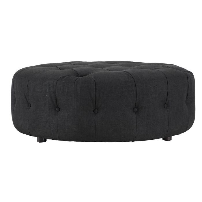 Miraculous Jill Small Round Tufted Cocktail Ottoman Short Links Chair Design For Home Short Linksinfo