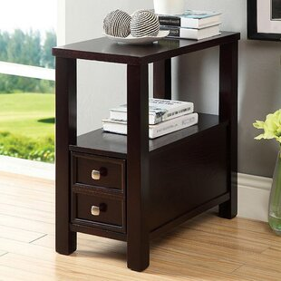 Nelia Transitional End Table with Storage by Winston Porter