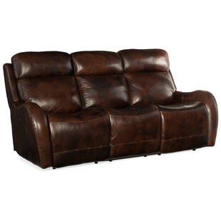 Chambers Leather Reclining Sofa by Hooker Furniture
