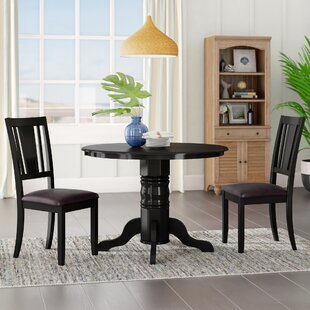Langwater 3 Piece Solid Wood Dining Set Beachcrest Home