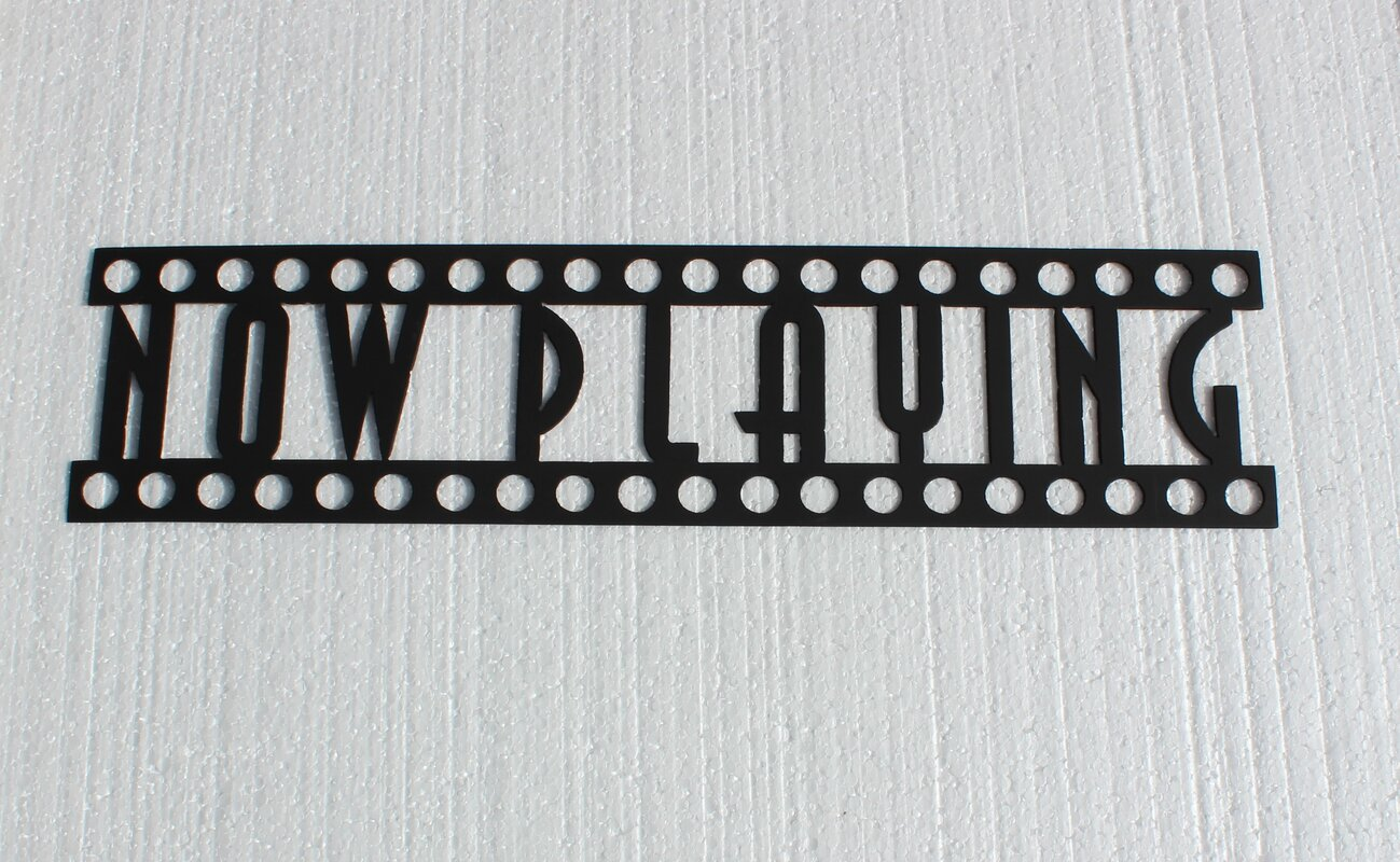Metal Home Sign Decor Say It All On The Wall Now Playing Sign Home Theater Metal Wall
