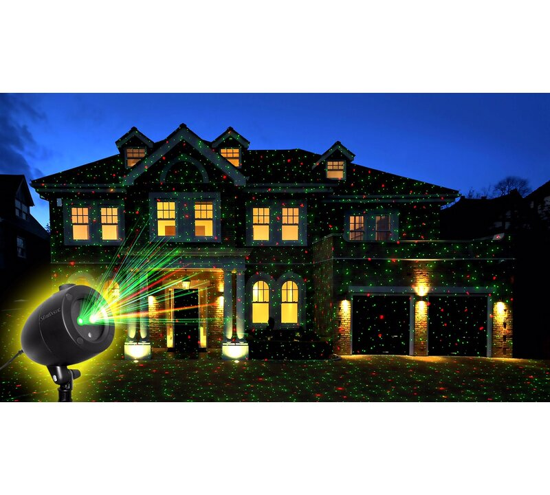 The Holiday Aisle Holiday Light Show Laser Light Projector & Reviews ...