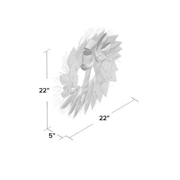 """Patriotic Seas 22"""" Dried Floral Wreath"""