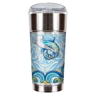 Shark Shimmy 24 oz. Stainless Steel Travel Tumbler