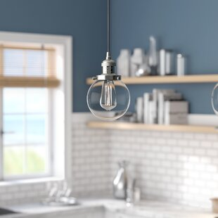 Jackeline 1-Light Globe Pendant by Breakwater Bay
