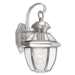 Price Check Gustavson 1-Light Outdoor Glass Wall Lantern By Three Posts