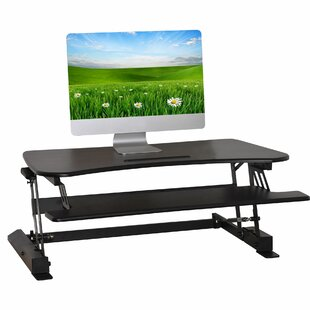 Pamela Living Height Adjustable Monitor Riser Standing Desk by Latitude Run Cheap