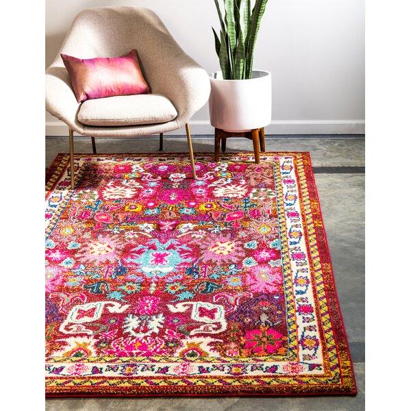 Bungalow Rose Iris Pink Area Rug Reviews Wayfair Ca