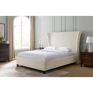 Everly Quinn Dominique Traditional Fabric Upholstered Panel Bed