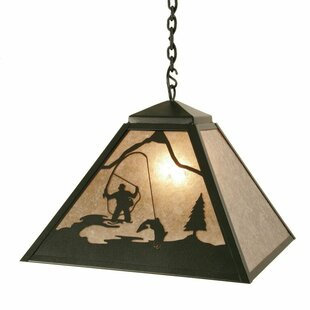 Steel Partners Fly Fisherman 1-Light Dome Pendant