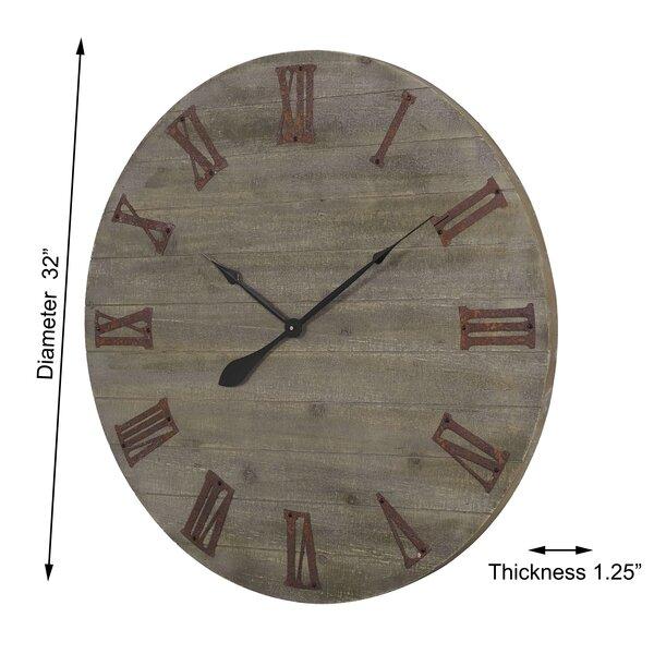 "Oversized Earlston 32"" Wall Clock"
