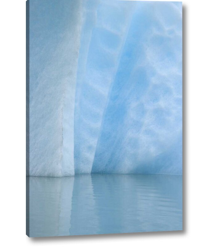 Breakwater Bay Use Alaska Alsek Lake Close Up Of Blue Iceberg Graphic Art Print On Wrapped Canvas Wayfair Ca