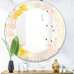 Leaves Abstract Design IV Coastal Wall Mirror