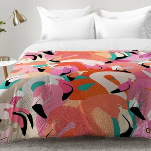 Flamingo Flock Comforter Set by East Urban Home