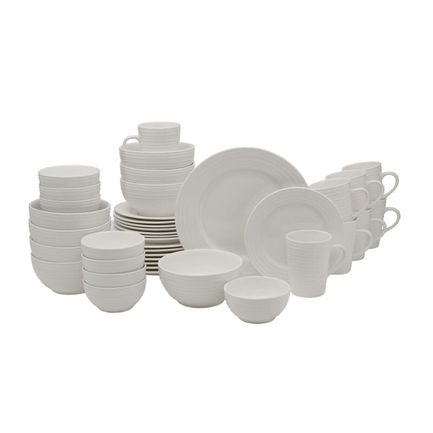 Gourmet Basics By Mikasa Spiral 40 Piece Dinnerware Set Service For 8 Reviews