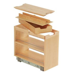 Ornamental Mouldings FindIT Kitchen Storage Organization Base Cabinet Pullout with Slide, Roll Manager and Cutting Board