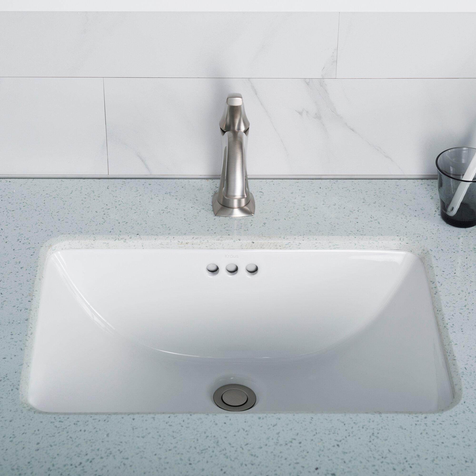 Kcu 241 kraus elavo ceramic rectangular undermount bathroom sink with overflow reviews wayfair