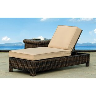 Rosecliff Heights Losey Chaise Lounge with Cushion